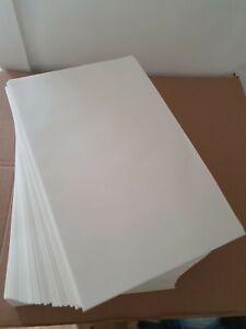 """PURE BLEACHED GREASEPROOF 9"""" X 14"""" PAPER SHEETS BAKING/WRAPPING. Various packs"""