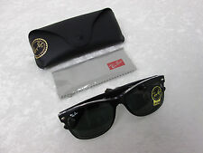 Ray-Ban New Wayfarer Color Mix Black & Clear Classic Green G-15 RB 2132 6052 3N