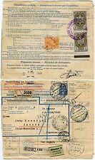 CZECHOSLOVAKIA 1937 STATIONERY PACKET RECEIPT HUNGARY CROATIA MAGAZIN to ZAGREB
