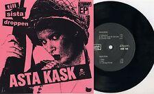 "Asta Kask - Till Sista Droppen 7"" PINK SLEEVE Strebers Cosa Nostra Wolfbrigade"