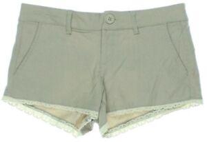 Dollhouse Shorts Sienna Tan Crochet Trim Casual Rayon Blend Size Juniors 15 $34