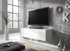 TV Möbel Schwebend zur Wandbefestigung Lowboard Schrank Rocco 100 cm Weiß