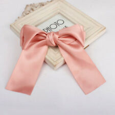 Women Girls Large Big Satin Hair Band Hair Clip Boutique Ribbon Bow Accessories