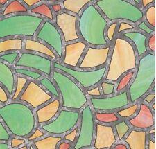 Fensterfolie Reims green yellow bunte Glasdekorfolie selbstklebend  0,45 x 2 M