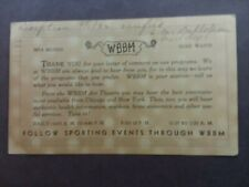 New listing Chicago- Sw Broadcast Station- Wbbm- Early Sports Radio- 1932- Swl Dx