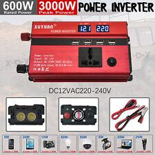 Spannungswandler DC12V- AC220V 3000W Wechselrichter PKW KFZ Inverter Wohnwage U2