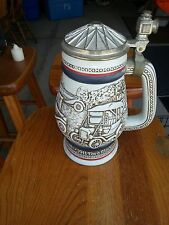 """Avon Collectible Stein """"Cars"""" 1979 handcrafted in Brazil"""