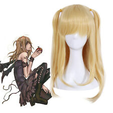 Death Note Misa Amane Cosplay Wig Gold Blonde Straight Long Women Hair Anime Wig