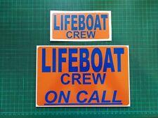 Reflective LIFEBOAT CREW ON CALL DASHCARD EMERGENCY RNLI !! free sticker !!