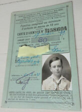 1933 carte d'identite train PLM billet chemin de fer