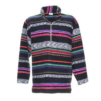 Sergio Tacchini Vintage Fleecepullover Größe XL Retro Sweatshirt Sweater Zip