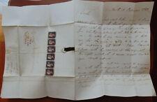 GB QV Cover 1841, Black Penny , Strip of 6 , Letter CC-CH ,  REPLICA