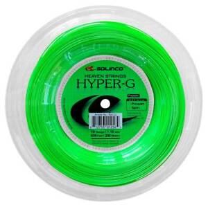 New Solinco HYPER-G 1.10mm/19 Gauge 200M Reel Power Spin Tennis String Green