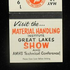 1965 Material Handling Institute Great Lakes Show AMHS Cleveland OH Matchbook