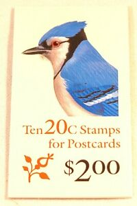 1995 Blue Jay 10- 20¢ stamp booklet Scott 2483