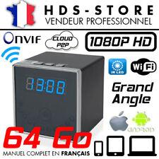 RÉVEIL CAMÉRA ESPION IP WIFI RVLIP2 FULL HD 1080P + MICRO SD 64 GO INFRAROUGE