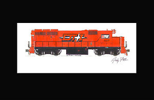 "Detroit, Toledo & Ironton GP40-2 11""x17"" Matted Print Andy Fletcher signed"
