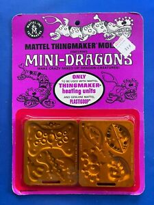 1968 Mattel Thingmaker Mini-Dragons Mold Pak Pack Brand New MOC Factory Sealed