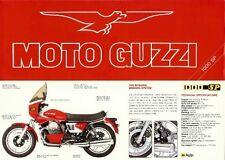 1982 Moto Guzzi 1000 SP full color foldout brochure