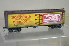 O GAUGE KIT BUILT 2 RAIL NADX 4BABY RUTH 0' WOODSIDE REEFER BOXCAR WEATHERED qd