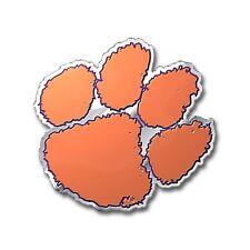 Clemson Tigers Die-Cut Metal Color Auto Emblem - Decal , Sticker