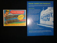 Advertising ephemera NY GCT model train show and Amtrak train equipment history
