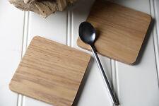 Set of 4 OAK Wood COASTERS By Creative Tops