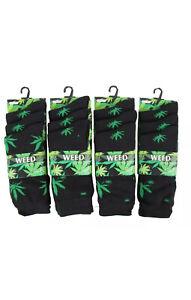 6 Socks Marijuana Weed Leaf Ankle Ganja HIGHLIFE Canabis Cotton Casual Comfort