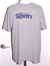 Superdry Grey Gray T-Shirt Top Men Size Extra Large XL
