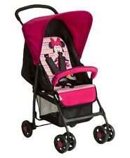 hauck Sport Single Seat Pushchair Stroller- Minnie Geo Pink