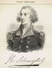 Philip Schuyler-American Revolution General-1855 Page  w/ Engraved Portrait