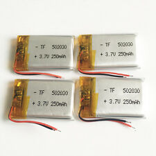 4 pcs 3.7V 250mAh 502030 Lipo Polymer Battery li-ion For Bluetooth GPS MP3 GPS
