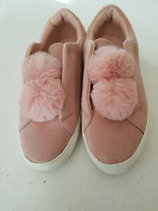 SPORTSGIRL pink suede Shoes size10.