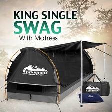Weisshorn King Single Camping Swags Dome Tent Wing - GREY