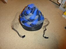 New listing Vintage Blue & Gray Netting Cone Shaped Women's Hat/ Fascinator