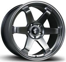 Avid1 AV06 17X8 Rims 5x114.3 +35 Hyper Black Wheels Te37 Style Rims Concave (4)