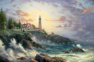 Clearing Storms by Thomas Kinkade (Seaside Memories Collection) Unframed