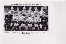 Team PIC da 1961-62 CALCIO ANNUALE-DUNFERMLINE + Glasgow Rangers