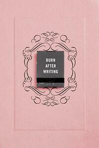 Burn after Writing (Pink) by Sharon Jones (0593329910) Paperback