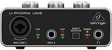 Behringer U-Phoria UM2 Audiophile 2x2 USB Interface BM800
