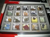 MINERALS, ROCKS, GEMS and PRECIOUS STONES in hard plastic display case #2