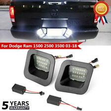 2x For Dodge Ram 1500 2500 3500 03-18 LED License Plate Rear Bumper Light Lamps