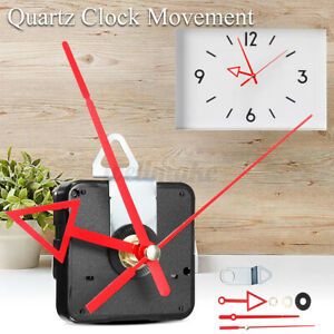 Quartz Silent Clock Movement Mechanism Module DIY Hour Minute Second Red   AU