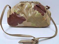 Carlo Fiori Vintage Snake Leather Shoulder Bag