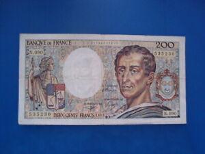 200   FRANCS  MONTESQUIEU 1991    N 090