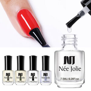 NEE JOLIE Base Coat Top Coat Nail Polish Nail Art 2 in 1 Water Based 7.5ml