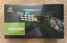NVIDIA NVS 510 2GB GDDR3 4-Mini DisplayPort PCI-Express Video Card BRAND NEW