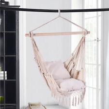 New listing Hanging Hammock Swing Seat Rope Stylish Decorative Boho Chair With 2 Cushions