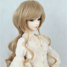 BJD Neat Bangs Long Wig Curly Hair for 1/3 BJD Ball Jointed Doll Sweet Goddess