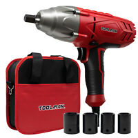 Toolman Corded Impact Wrench 6A 3200 RPM with 4pcs sockets for Heavy Duty